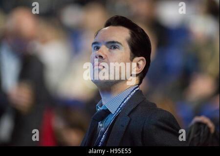 The O2, London, UK. 19th November, 2016. Day 7 singles semi-final match, Andy Murray (GBR) defeats Milos Raonic - Stock Photo