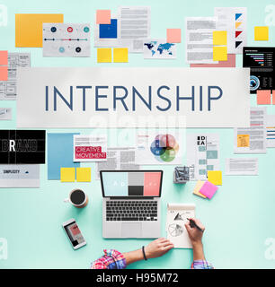 Internship Management Temporary Position Concept Stock Photo ...
