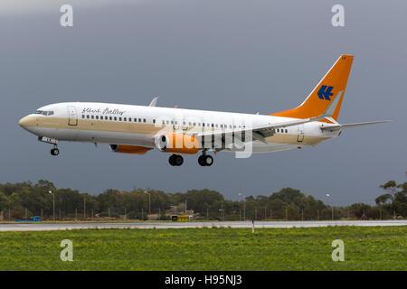 Hapag-Lloyd Kreuzfahrten Boeing 737-8K5 [D-AHLK] landing runway 31. - Stock Photo