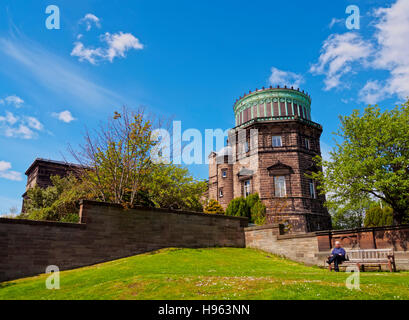 UK, Scotland, Lothian, Edinburgh, Blackford Hill, View of the Royal Observatory. - Stock Photo