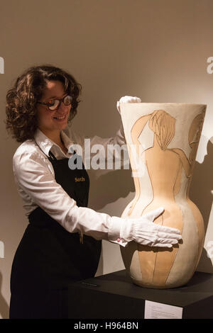 London, UK. 18 November 2016. Sotheby's presents a preview of Picasso Ceramics from the A Life in Art: Lord & Lady - Stock Photo