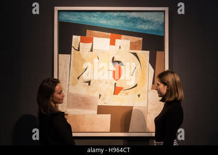 London, UK. 18 November 2016. Pictured: April 57 (Arbia 2) by Ben Nicholson. Est. GBP 600,000-800,000. Christie's - Stock Photo