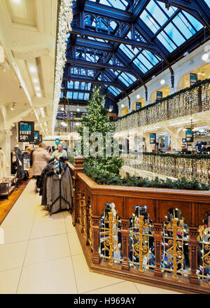 UK, Scotland, Lothian, Edinburgh, Christmas Decorations in the Jenners Department Store. - Stock Photo