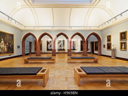UK, Scotland, Lothian, Edinburgh, Interior view of The Scottish National Portrait Gallery. - Stock Photo