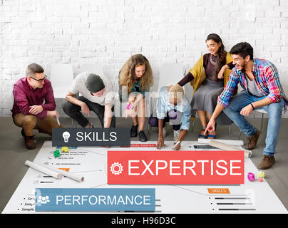 Expersite Skills Performance Business Abilities Concept - Stock Photo