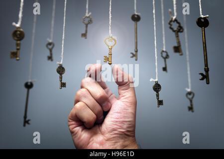 Choosing the key to success - Stock Photo