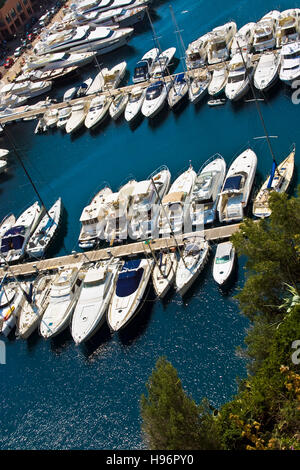 Fontvieille, luxury bay in Monte Carlo in the Principality of Monaco, Europe - Stock Photo