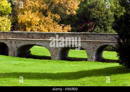 Old brickwork bridge in Valpovo, Croatia - Stock Photo