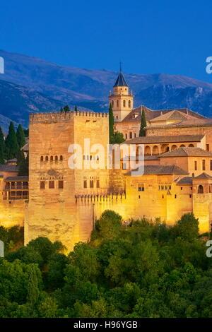 Alhambra Palace, Granada, Andalusia, Spain - Stock Photo