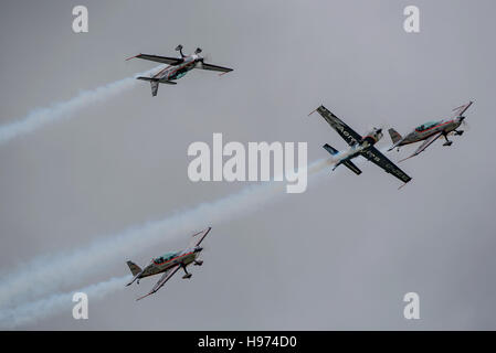 'Crazy Flying' by The Blades Aerobatic Team. - Stock Photo
