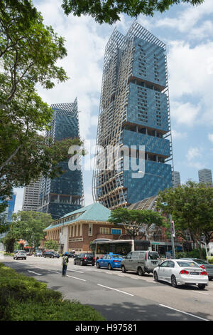 South Beach Tower, Beach Road, Downtown Core, Singapore Island, Singapore - Stock Photo