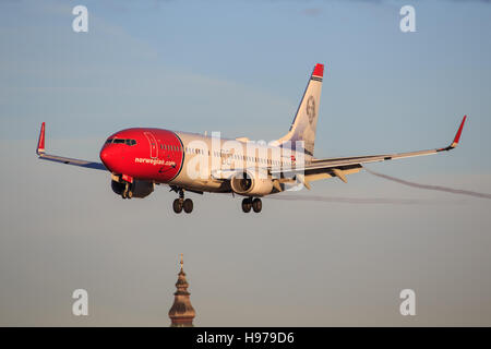 Boeing 737 from Norwegian - Stock Photo