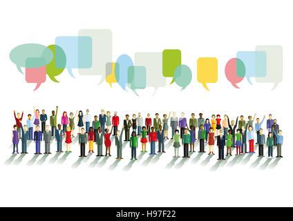 Communication and opinions - Stock Photo