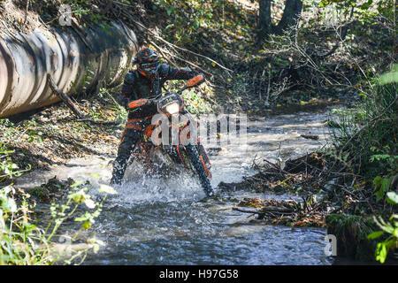 On the edge 2016 Hard Enduro Rally - Stock Photo