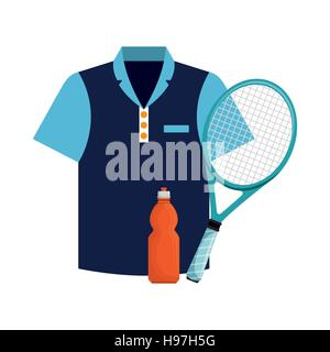 tshirt bottle water and racket tennis icons vector illustration eps 10 - Stock Photo