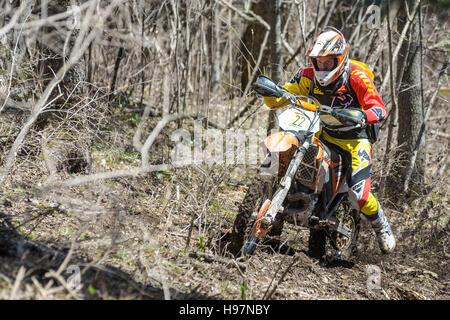 Hard Enduro Rally Khekhtsirsky Ridge 2016 - Stock Photo