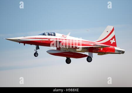 Patrouille Suisse Northrop F-5E Tiger ll - Stock Photo