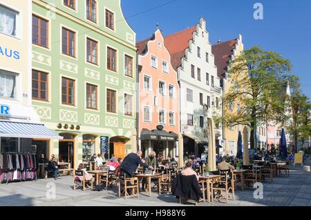Ingolstadt: street Theresienstraße, Oberbayern, Upper Bavaria, Bayern, Bavaria, Germany - Stock Photo