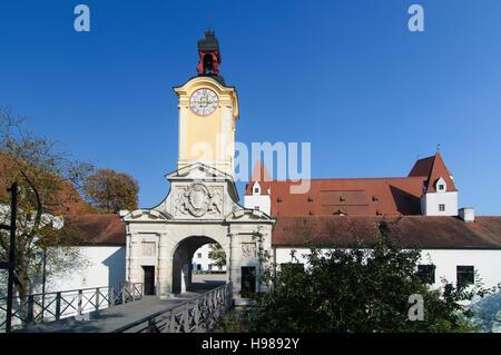 Ingolstadt: Portal of the New Castle, Oberbayern, Upper Bavaria, Bayern, Bavaria, Germany - Stock Photo