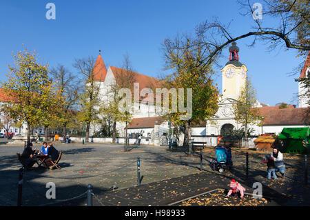 Ingolstadt: square Paradeplatz, castle Neues Schloss, Oberbayern, Upper Bavaria, Bayern, Bavaria, Germany - Stock Photo