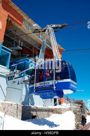 Cable car to Pico de Teide mountain, Parque Nacional del Teide, Tenerife, Spain, Europe - Stock Photo