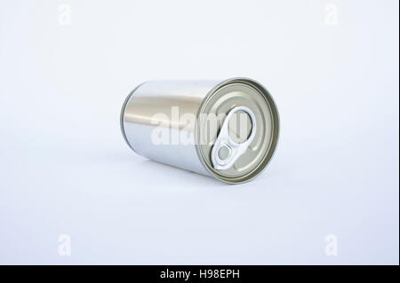 canned, tin, pop top lid - Stock Photo