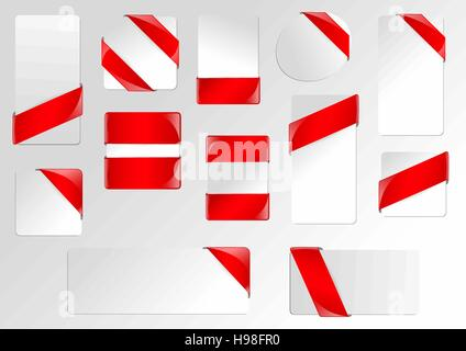 Red Ribbon Frame Business Banners Stock Photo: 169574115 - Alamy