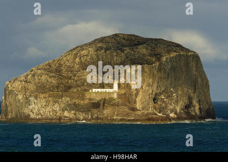 Landscape over the sea in North Berwick of Bass rock island . Fifth forth east scotland - Stock Photo