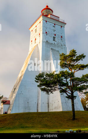 Lighthouse, Kopu, Hiiumaa, Estonia, one of the oldest in Europe - Stock Photo