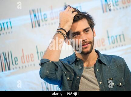 Bergamo, Italy. 19th Nov, 2016. Alvaro Soler, Spanish singer-songwriter, judge X-Factor Italy 2016. Today, Saturday - Stock Photo
