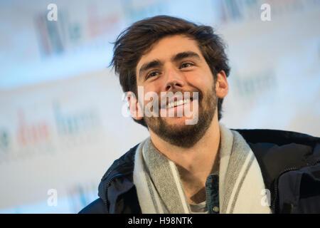 Bergamo, Italy. 19th Nov, 2016. Alvaro Soler, Spanish singer-songwriter, judge X-Factor Italy 2016. Today, Saturday - Stock Photo