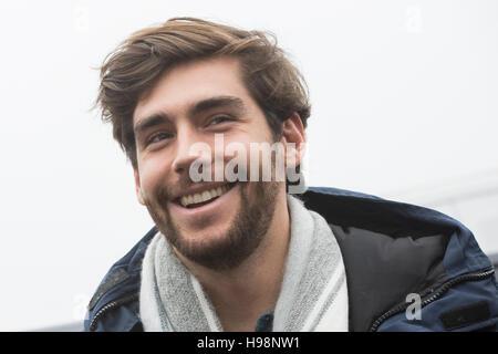 Bergamo, Italy. 19th Nov, 2016. Alvaro Soler , Spanish singer-songwriter, judge X-Factor Italy 2016. Today, Saturday - Stock Photo
