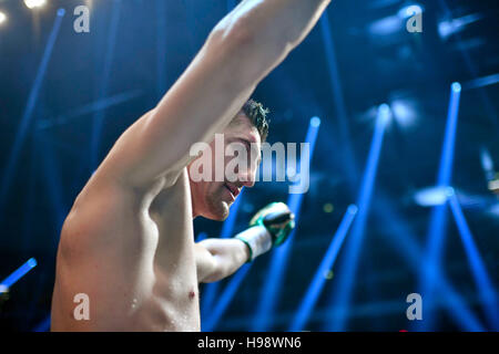 Hanover, Germany. 19th Nov, 2016. IBO World Champion Marco Huck wins against Dmitro Kutscher from Ukraine during - Stock Photo