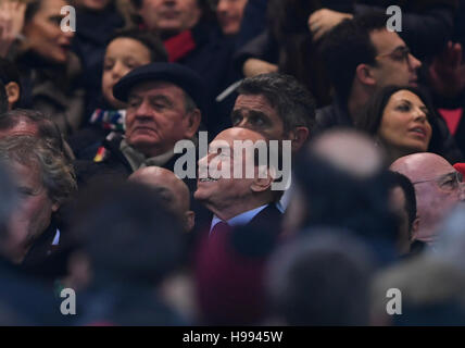 Milan. 20th Nov, 2016. Silvio Berlusconi is seen in the crowd during the Italian Serie A football match between - Stock Photo