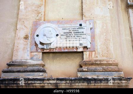 S. Maria Maggiore church and Garibaldi memoriial. Sicily - Stock Photo