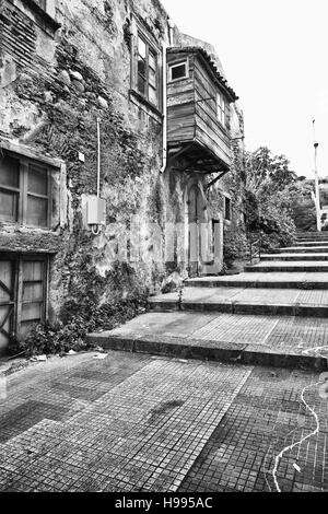 Street of Milazzo city, Sicily - Stock Photo