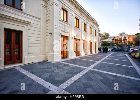 Trifiletti Theater to Milazzo, Sicily - Stock Photo