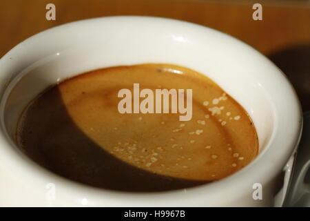 A macro shot of the coffee - Stock Photo