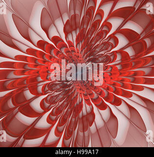 Abstract fractal flower background computer generated image - Stock Photo