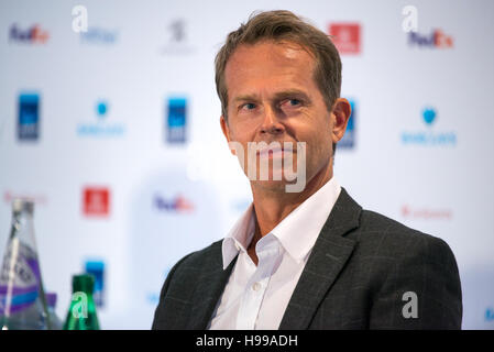 London, UK. 19th Nov, 2016. Stefan Edberg at the conference to present the ATP Next Gen Finals 2017 in Milan. He - Stock Photo