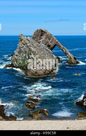 Bow Fiddle Rock, Portknockie, Moray Firth, Scotland, Great Britain - Stock Photo