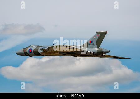 The ex RAF Avro Vulcan B.2 bomber XH558 (The Spirit of Great Britain) at the Royal International Air Tattoo, UK - Stock Photo