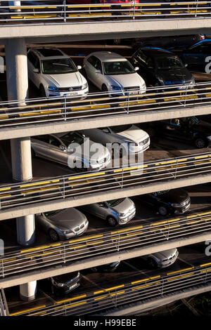 Europe, Germany, Cologne, multi-storey car park of the Kaufhof department store. - Stock Photo