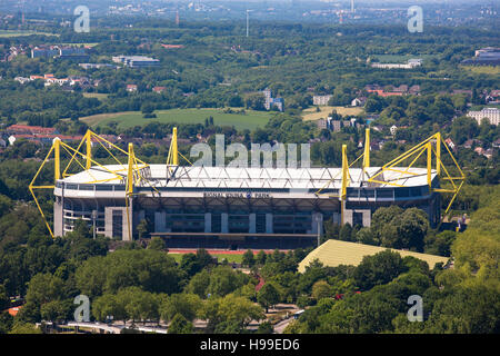 Germany,  Ruhr area, the Signal Iduna Park, soccer stadium of Borussia Dortmund - Stock Photo