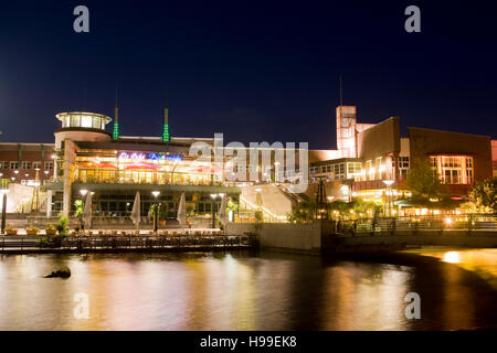 Germany,  Ruhr area, Oberhausen, the promenade at the shopping mall Centro in the district Neue Mitte. - Stock Photo