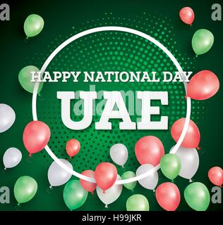 Happy National Day UAE. Vector Illustration. Celebration December. 2 in United Arab Emirates. - Stock Photo