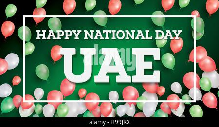 Happy National Day UAE. Vector Illustration. Celebration December. 2 in United Arab Emirates. - Stock Photo