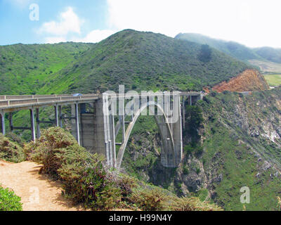 Bixby Creek Bridge, Big Sur, California, USA - Stock Photo