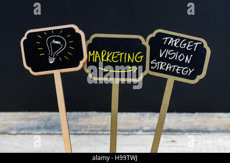 Concept Message Marketing Target Vision Strategy And Light Bulb