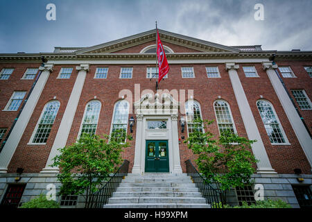Lehman Hall, at Harvard University, in Cambridge, Massachusetts. - Stock Photo